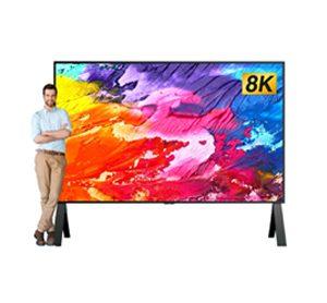"""120"""" 8K TV screen display"""